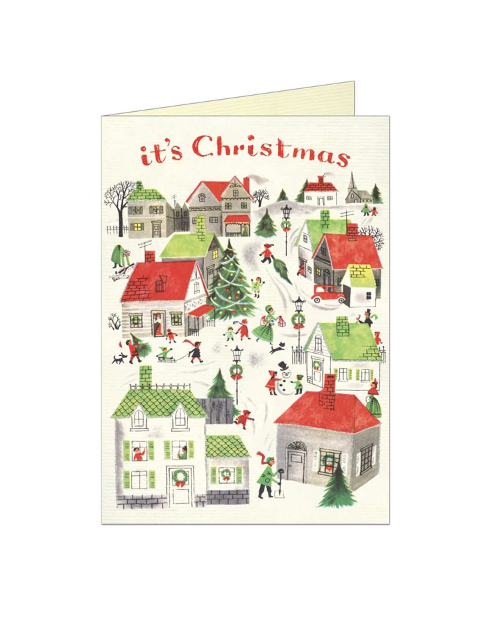 Cavallini Papers & Co. Christmas Village Greeting Notecard