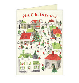 Cavallini Papers & Co. Christmas Village Brittany Notecard