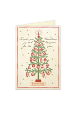 Cavallini Papers & Co. Christmas Tree Greeting Notecard