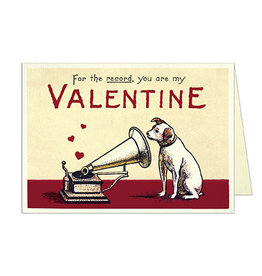 Cavallini Papers & Co. Valentine Dog 2 Greeting Notecard
