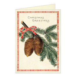 Cavallini Papers & Co. Christmas Pine Greeting Notecard