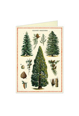 Cavallini Papers & Co. Christmas Trees Greeting Notecard