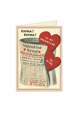 Cavallini Papers & Co. Valentine Newspaper Notecard