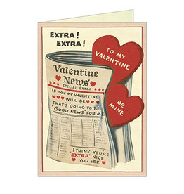Cavallini Papers & Co. Valentine Newspaper Brittany Notecard