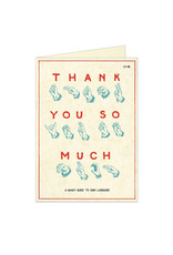 Cavallini Papers & Co. Thank You Sign Language Greeting Notecard