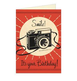 Cavallini Papers & Co. Birthday Camera Notecard
