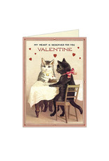 Cavallini Papers & Co. Valentine Cats 3 Brittany Notecard