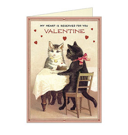 Cavallini Papers & Co. Valentine Cats 3 Greeting Notecard