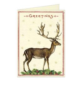 Cavallini Papers & Co. Christmas Deer Greeting Notecard