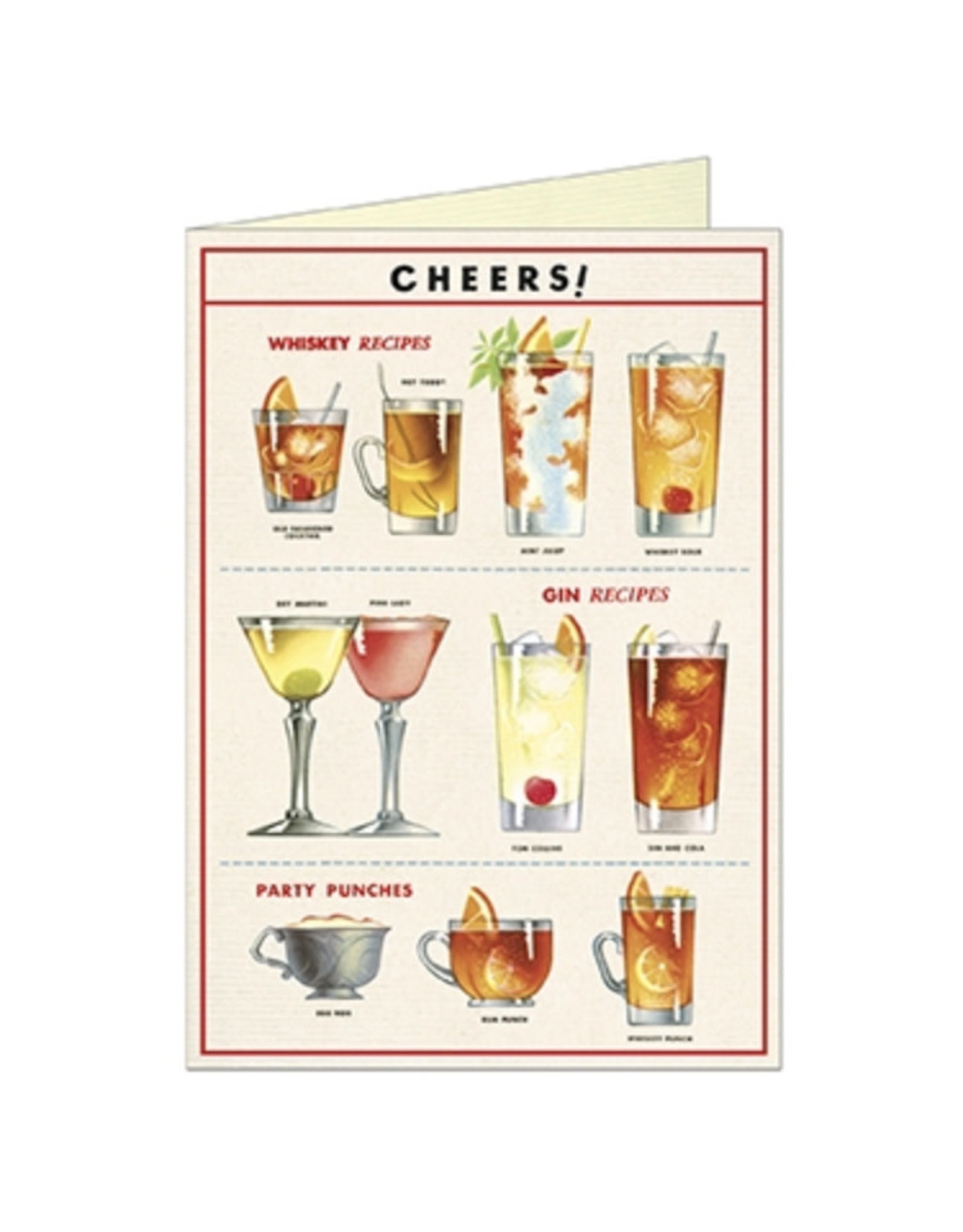 Cavallini Papers & Co. Cheers Greeting Notecard
