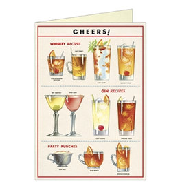 Cavallini Papers & Co. Cheers Brittany Notecard