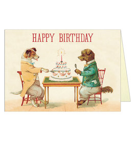 Cavallini Papers & Co. Happy Birthday Dogs & Cake Brittany Notecard