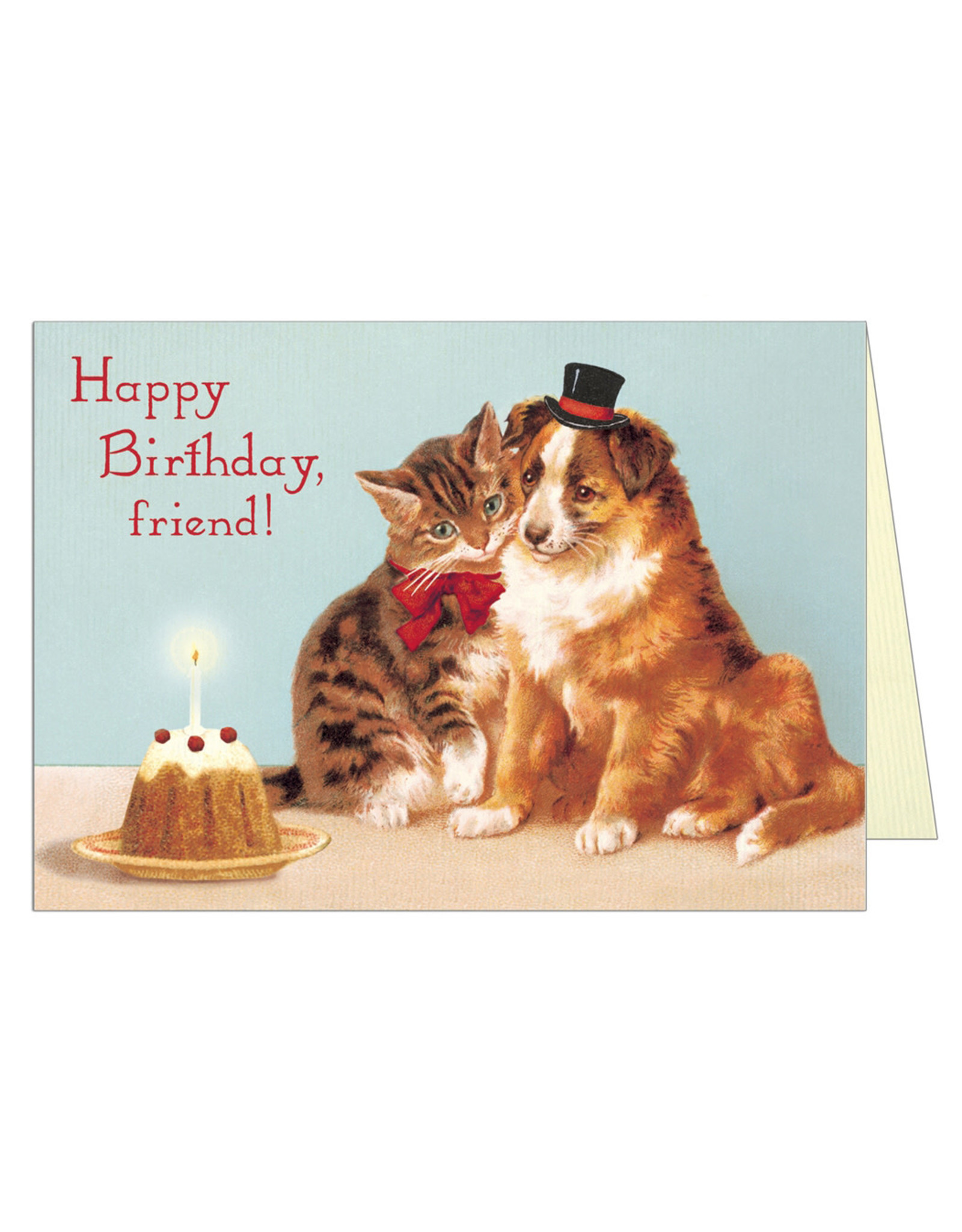 Cavallini Papers & Co. Happy Birthday Friends Brittany Notecard