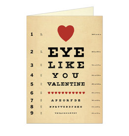Cavallini Papers & Co. Valentines Eye Like You Notecard