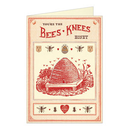 Cavallini Papers & Co. Love Bee's Knees Greeting Notecard