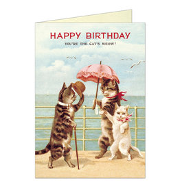 Cavallini Papers & Co. Happy Birthday Cats Brittany Notecard