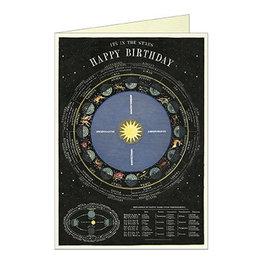 Cavallini Papers & Co. Happy Birthday Zodiac Notecard