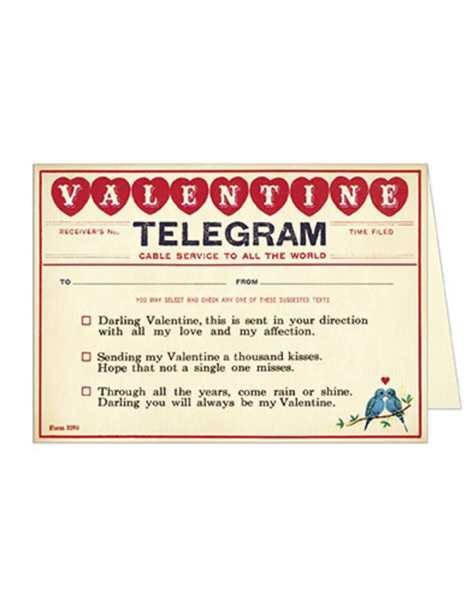 Cavallini Papers & Co. Valentine Telegram Notecard
