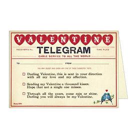 Cavallini Papers & Co. Valentine Telegram Brittany Notecard