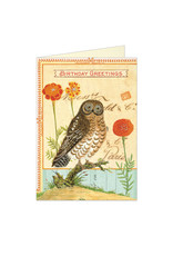 Cavallini Papers & Co. Happy Birthday Owl Notecard