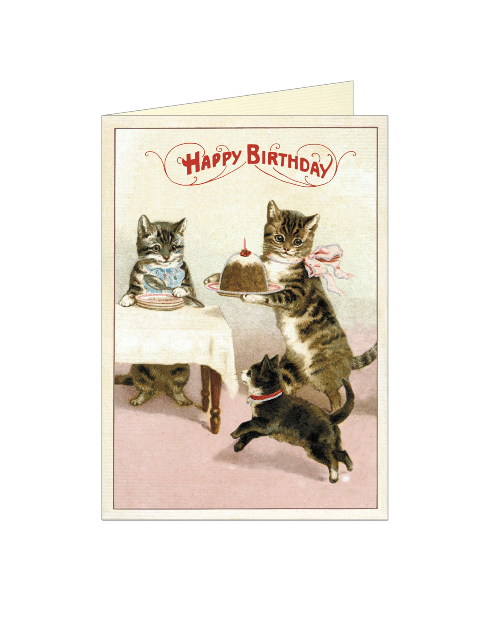 Cavallini Papers & Co. Happy Birthday Cats Notecard