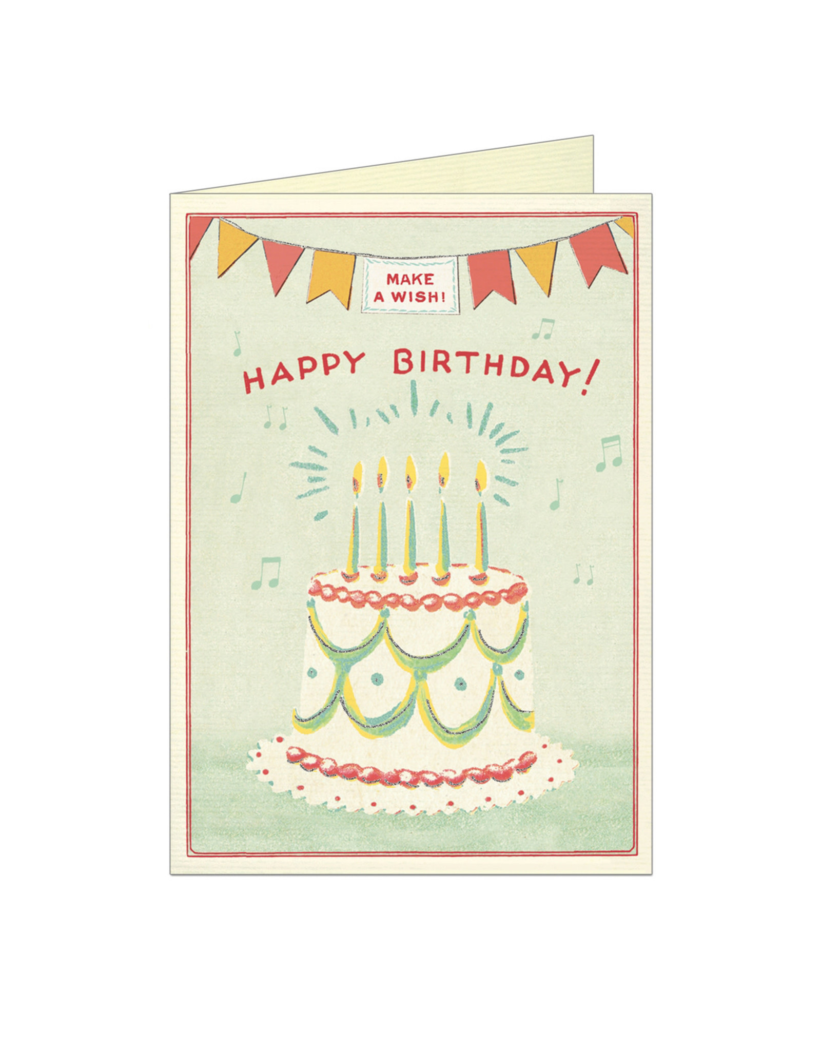 Cavallini Papers & Co. Happy Birthday Cake 3 Notecard