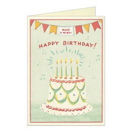 Cavallini Papers & Co. Happy Birthday Cake 3 Notecard