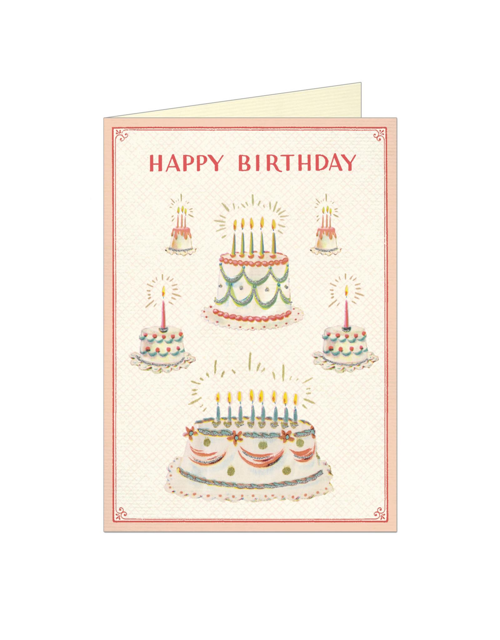 Cavallini Papers & Co. Happy Birthday Cake 2 Notecard