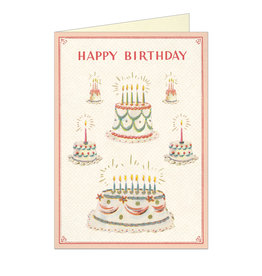 Cavallini Papers & Co. Happy Birthday Cake 2 Brittany Notecard