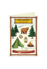 Cavallini Papers & Co. Happy Birthday Camping Brittany  Notecard
