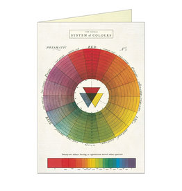 Cavallini Papers & Co. Color Wheel Brittany Notecard