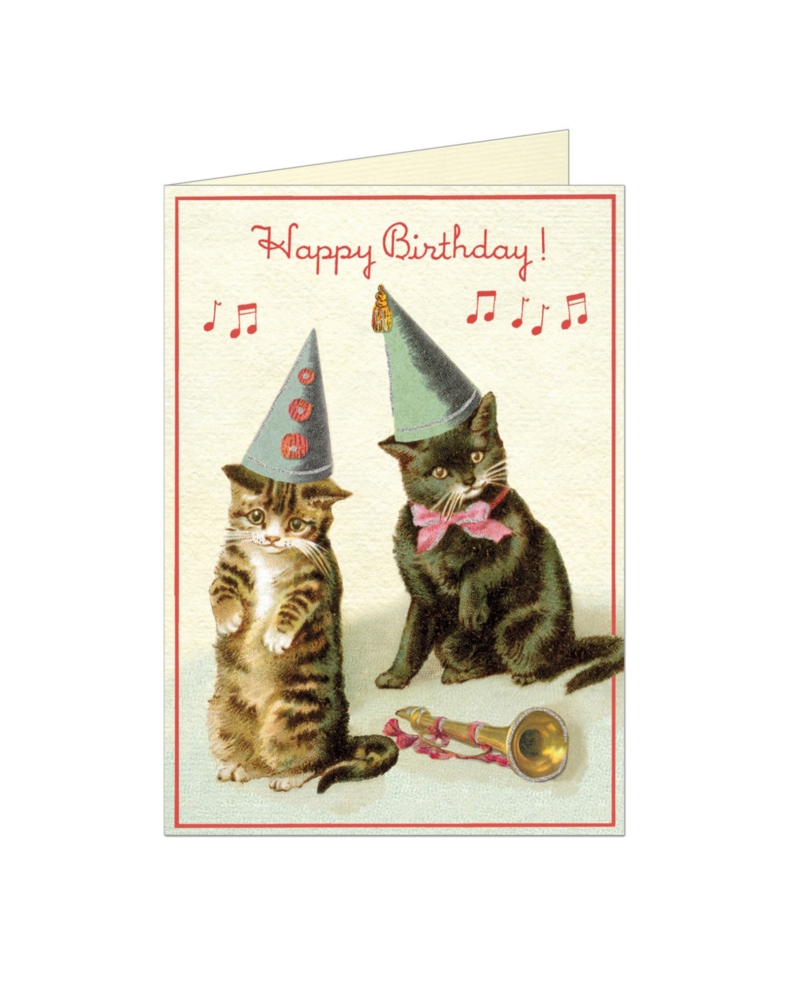 Cavallini Papers & Co. Happy Birthday Cats 2 Notecard