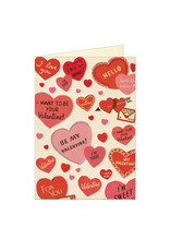 Cavallini Papers & Co. Valentine Hearts Notecard