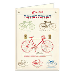 Cavallini Papers & Co. Bicycles Brittany Notecard