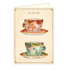 Cavallini Papers & Co. Tea for Two Brittany Notecard