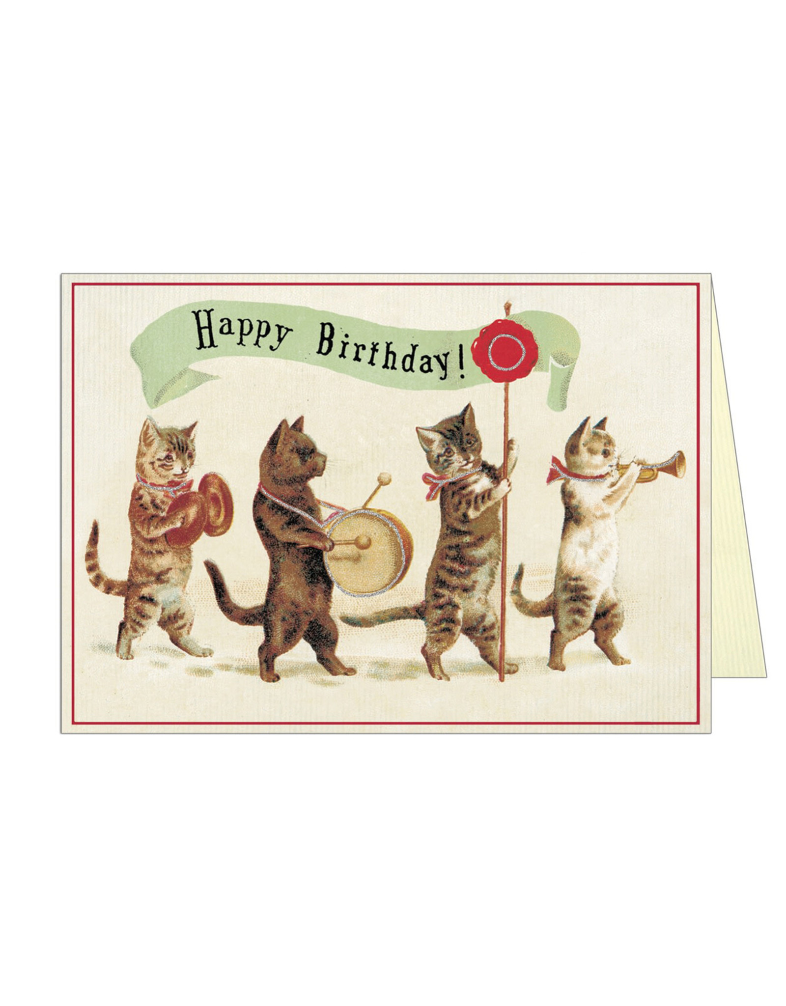 Cavallini Papers & Co. Happy Birthday Cat 3 Notecard