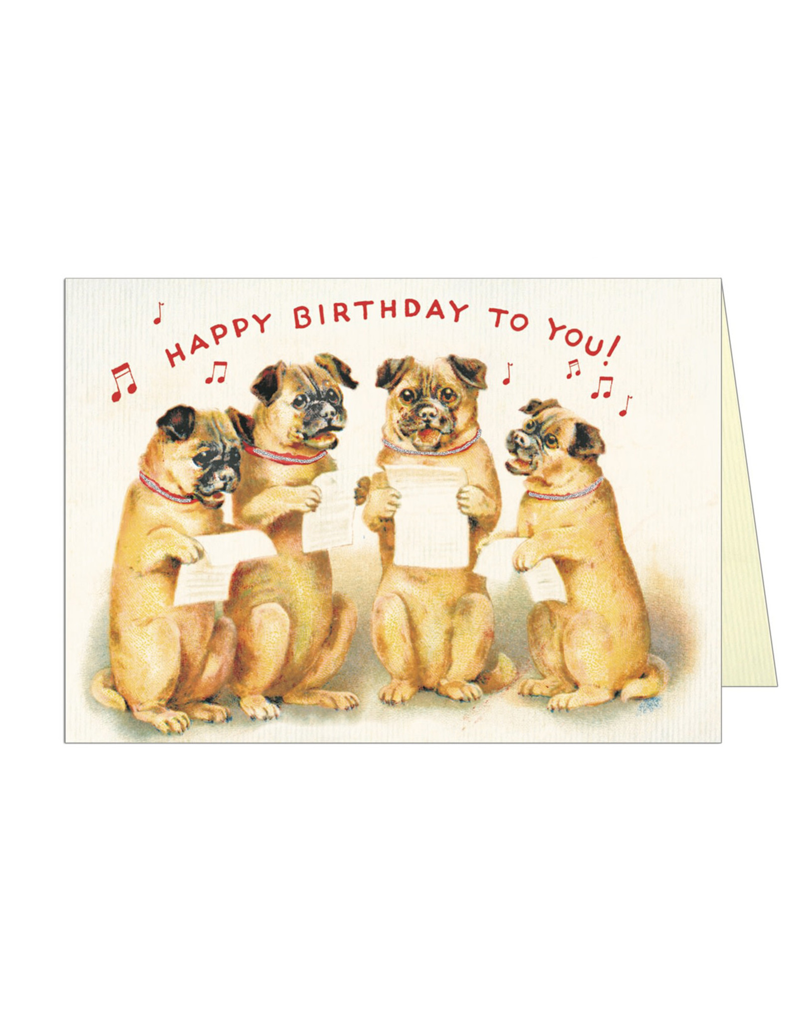 Cavallini Papers & Co. Happy Birthday Dog 4 Notecard