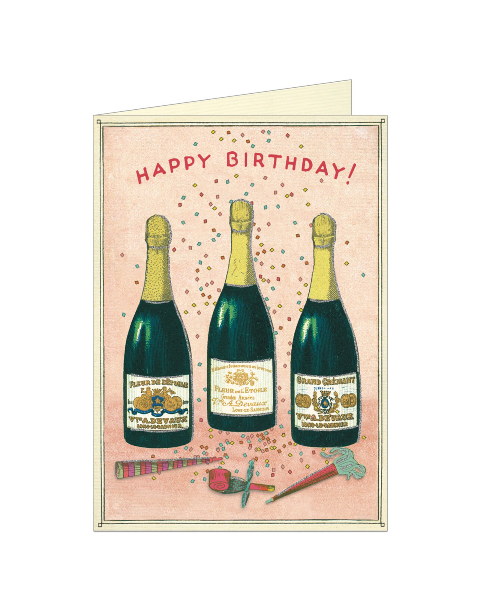 Cavallini Papers & Co. Birthday Champagne Notecard