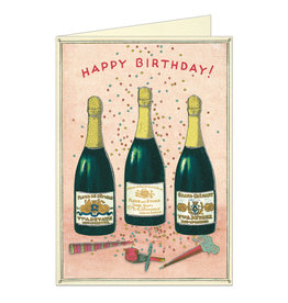 Cavallini Papers & Co. Birthday Champagne Brittany Notecard