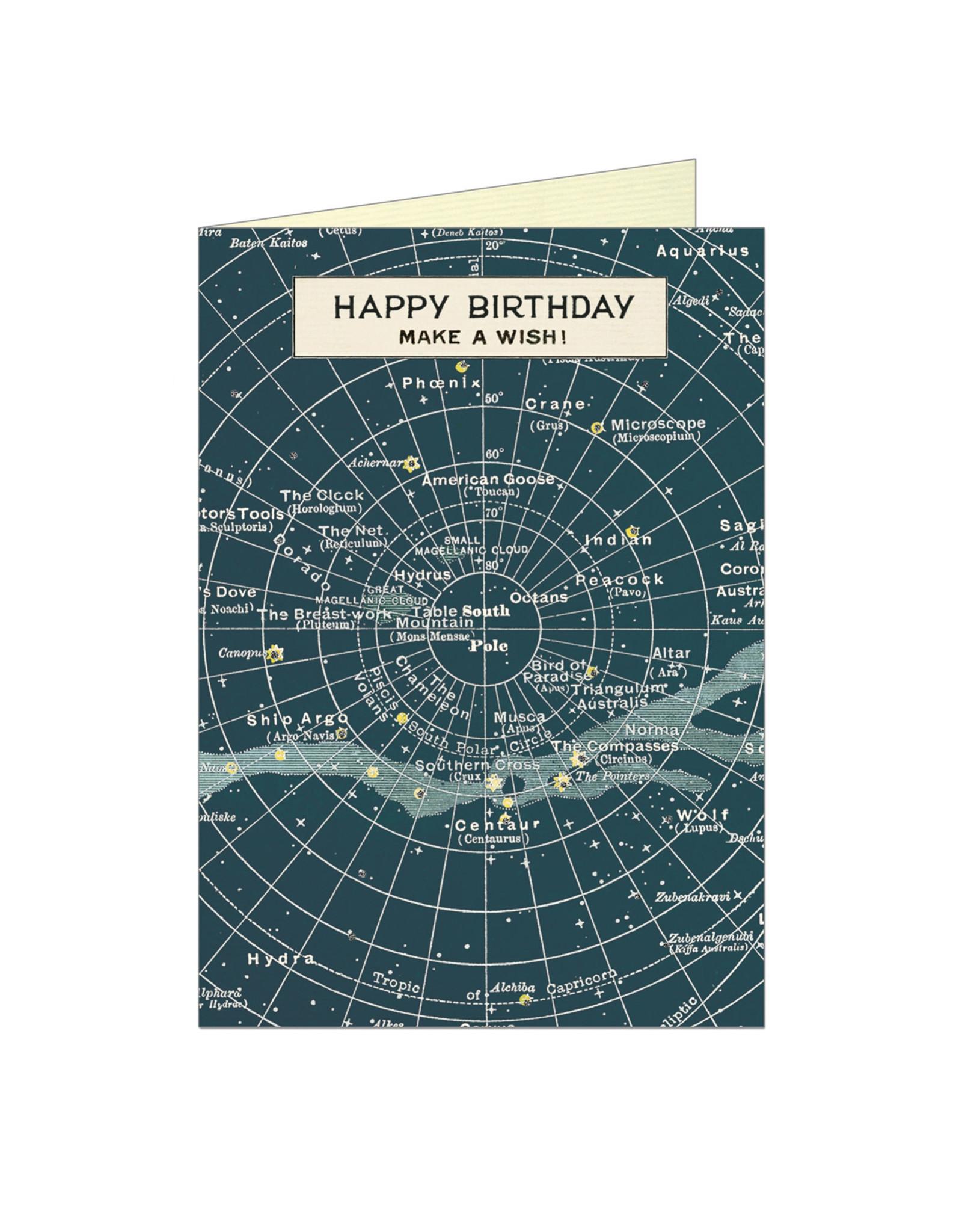 Cavallini Papers & Co. Happy Birthday Celestial Notecard