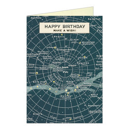 Cavallini Papers & Co. Happy Birthday Celestial Brittany Notecard