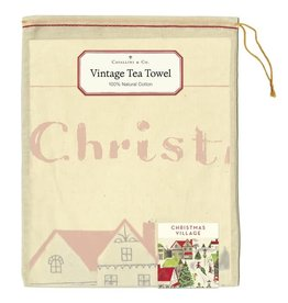 Cavallini Papers & Co. Christmas Village Tea Towel