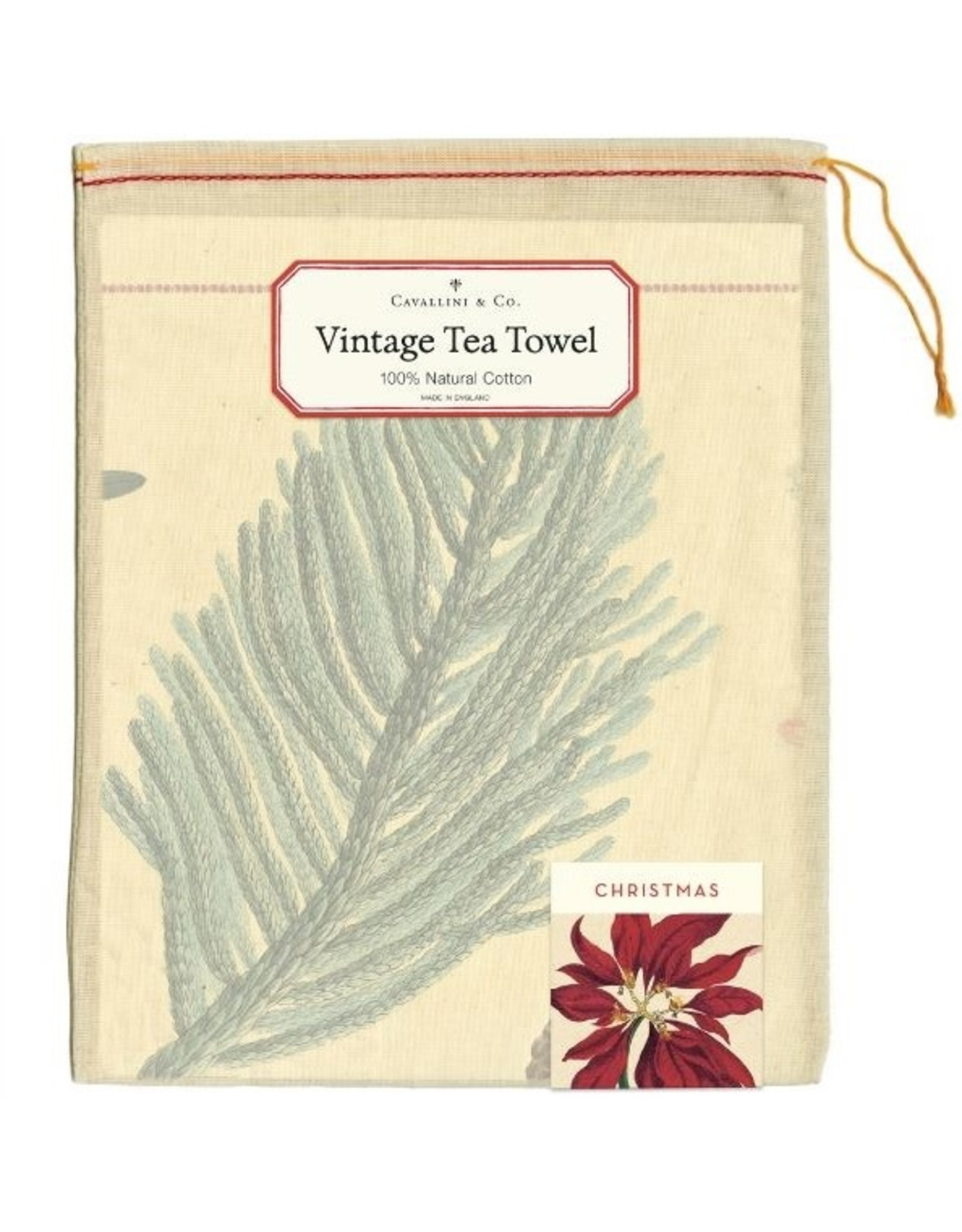 Cavallini Papers & Co. Christmas Botanica Tea Towel