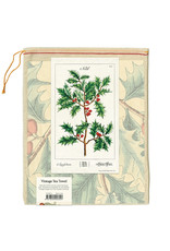 Cavallini Papers & Co. Holly Christmas Tea Towel