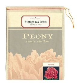 Cavallini Papers & Co. Botanica Peony Tea Towel