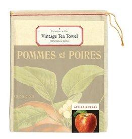 Cavallini Papers & Co. Apples & Pears Tea Towel