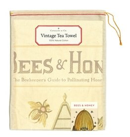 Cavallini Papers & Co. Bees & Honey Tea Towel