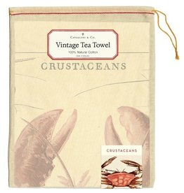 Cavallini Papers & Co. Crustaceans Tea Towel