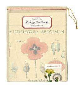 Cavallini Papers & Co. Wildflowers Tea Towel