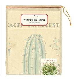 Cavallini Papers & Co. Succulents Tea Towel
